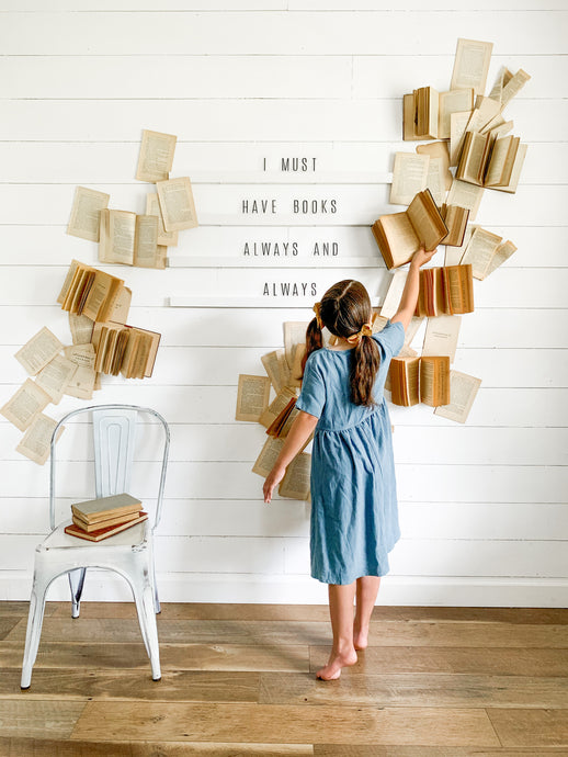DIY Letter Board Book Wall