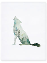 Load image into Gallery viewer, Double Exposure Wolf