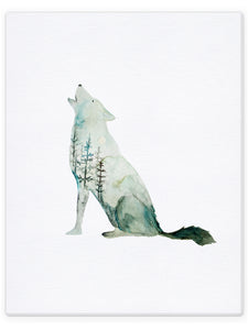 Double Exposure Wolf
