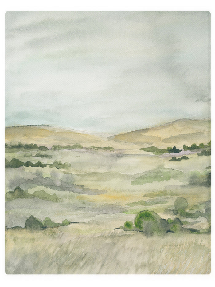 Summer Fields  - Watercolor Landscape