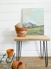 Load image into Gallery viewer, Daytime Mountain And Moon -  Watercolor Landscape
