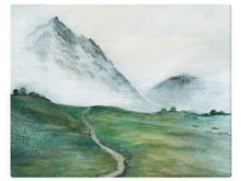 Load image into Gallery viewer, Glacier Valley -  Watercolor Landscape