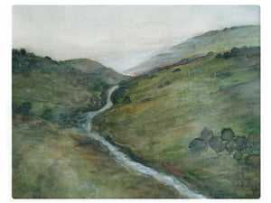 Green River Hills -  Watercolor Landscape