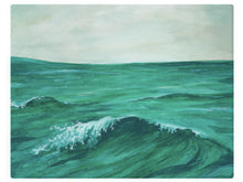 Load image into Gallery viewer, Ocean Wave With Clear Skies -  Watercolor Landscape