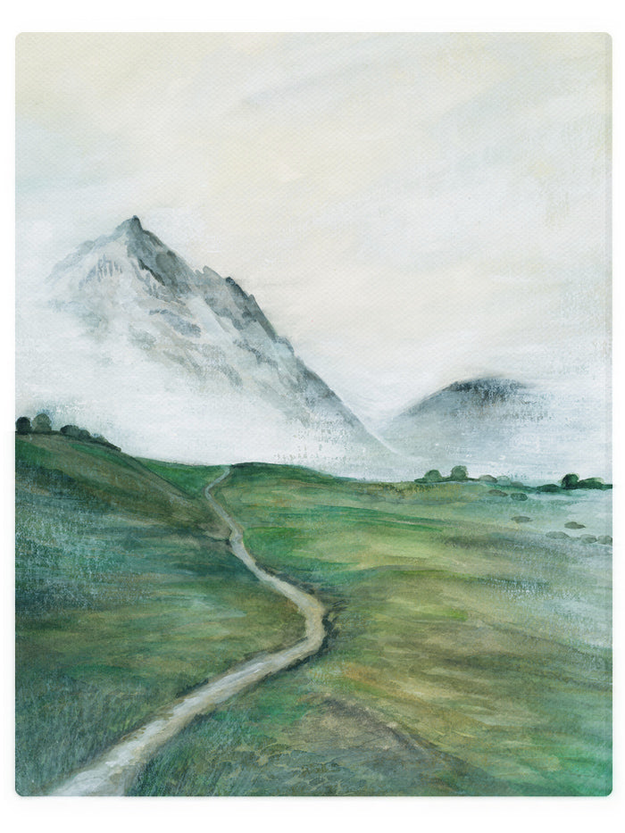 Glacier Valley -  Watercolor Landscape