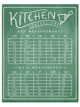 Load image into Gallery viewer, Kitchen Measurements Conversion Chart