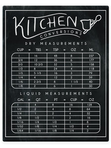 Kitchen Measurements Conversion Chart