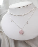Celeste Necklace Rose Quartz