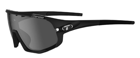 TIFOSI SLEDGE | MATTE BLACK SMOKE, AC RED & CLEAR LENSES