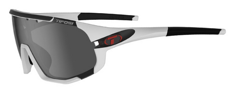 TIFOSI SLEDGE | MATTE WHITE SMOKE, AC RED & CLEAR LENSES