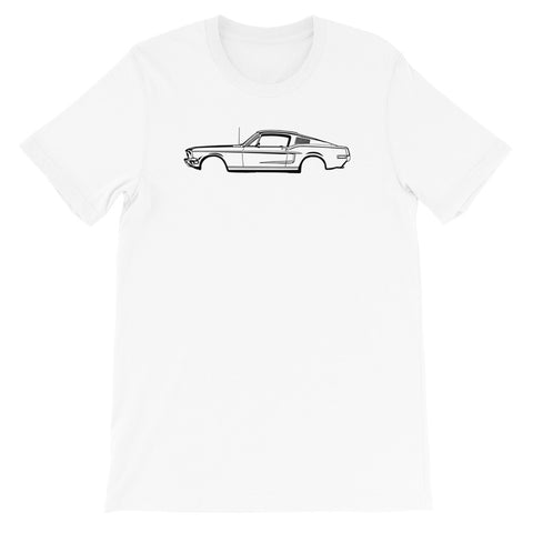 T-shirt Homme Manches Courtes Ford Mustang mk1