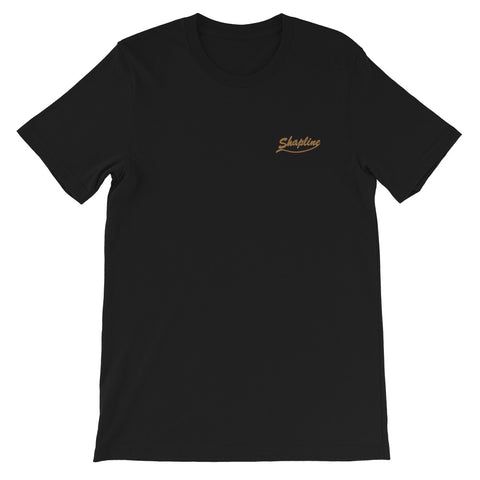 Men's embroidered T-shirt Shapline gold