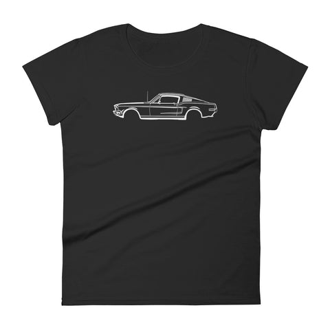 T-shirt femme Manches Courtes Ford Mustang mk1