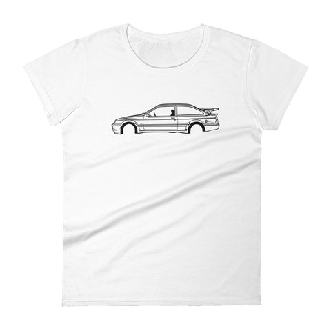 T-shirt femme Manches Courtes Ford Sierra RS Cosworth mk1