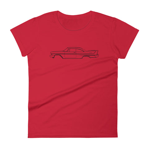 Plymouth Fury 58 Women's Short Sleeve T-Shirt