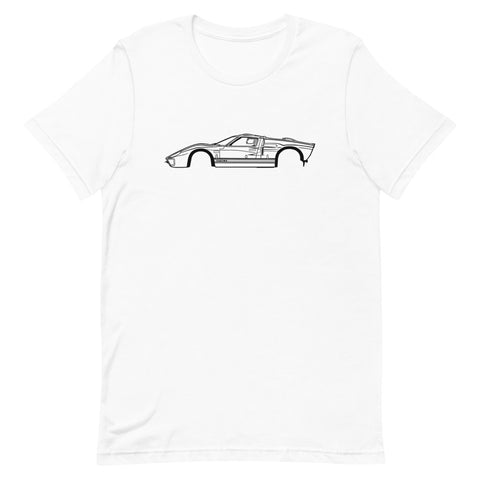 T-shirt Homme Manches Courtes Ford GT40 mk2