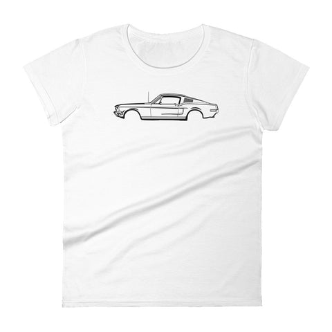 T-shirt femme Manches Courtes Ford mustang 68