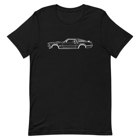 T-shirt Homme Manches Courtes Ford Mustang Mach 1 mk1