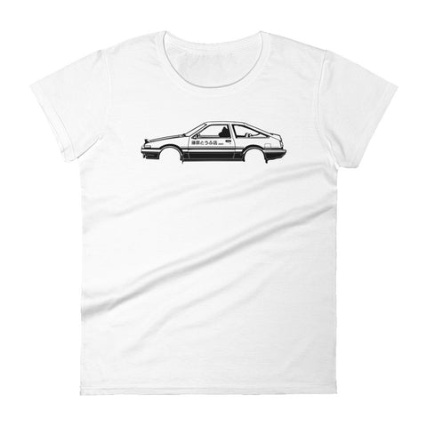 T-shirt femme Manches Courtes Toyota AE86