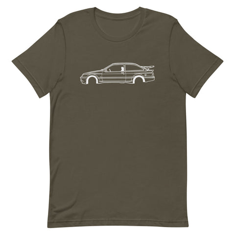 T-shirt Homme Manches Courtes Ford Sierra RS Cosworth mk1