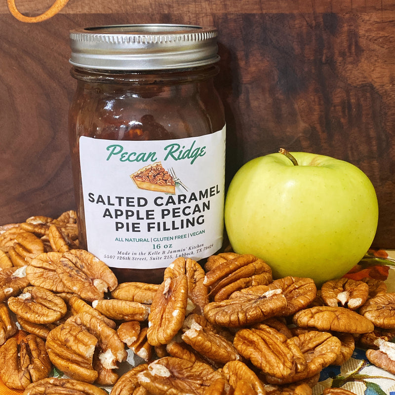 Salted Caramel Apple Pecan Pie Filling