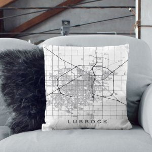 In The Lubbock Loop Pillow