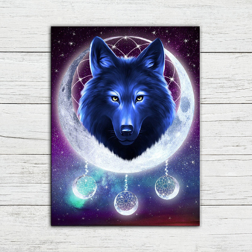 Lunar Wolf Diamond Painting