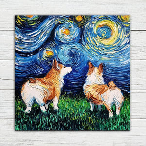 Painted Corgi Dog Diamond Painting