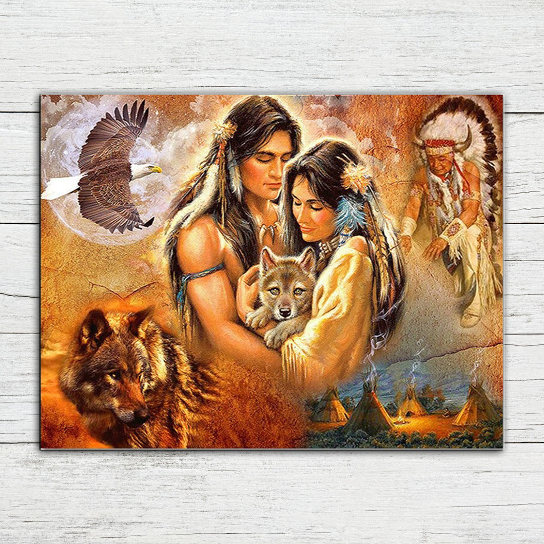 Native Lovers Diamond Painting