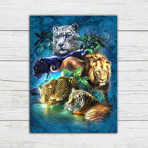 Fearless Cats Diamond Painting