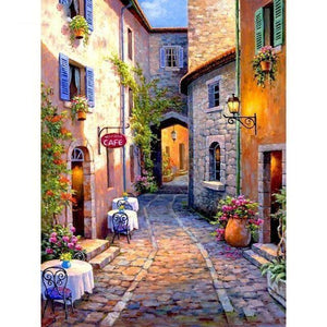 Cobblestone Cafe Diamond Painting