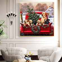 Load image into Gallery viewer, Holiday Dogs Diamond Painting