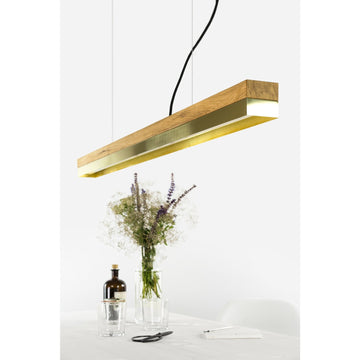 GANTlights | C1 Brass Oak Pendant Light