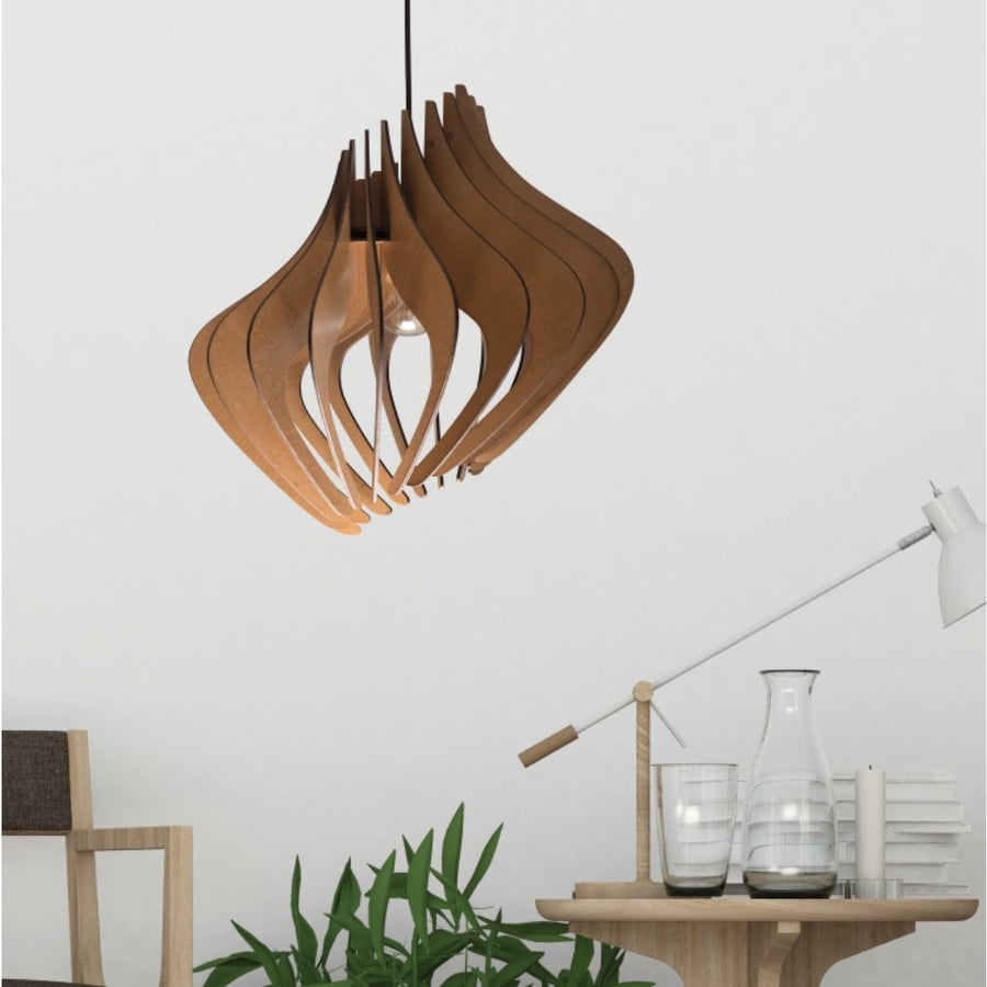 Wood pendant architectural Lighting