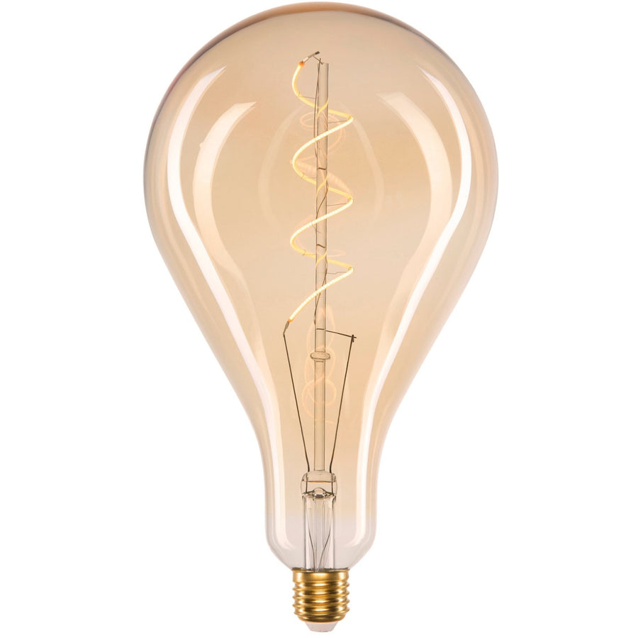 PS160 Maxi Amber Coated Flexible Filament LED Globe