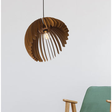 Wood pendant dining feature office lighting