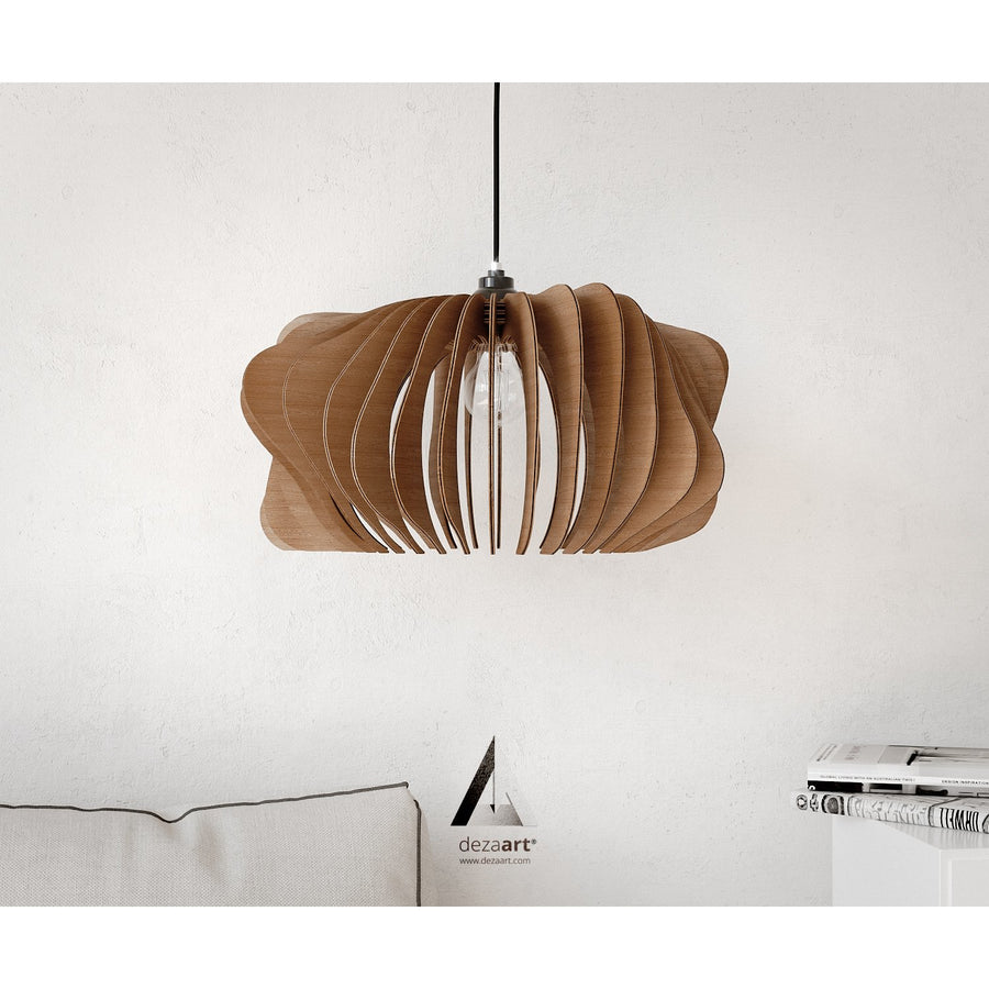 Dezaart Wooden Pendant Light | Contemporary Lighting Design | Social Light