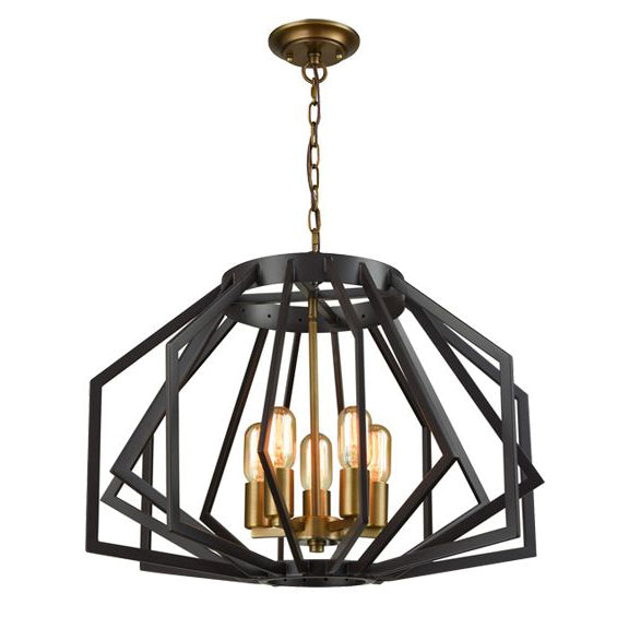 Gamba Chandelier | Antique brass & oiled bronze | Wide
