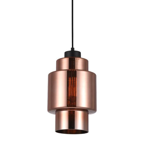 Copper Glass Pendant | Double Cylinder