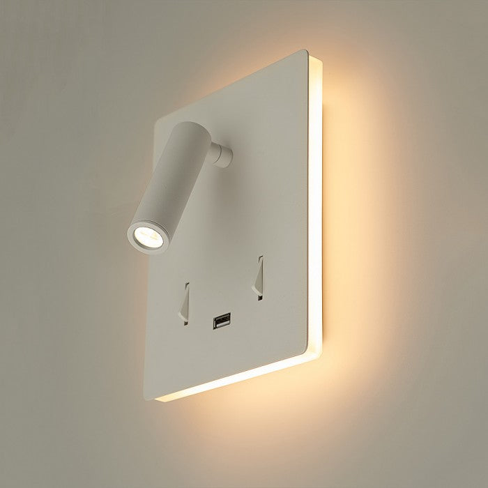 Aura USB Bedside Wall Light
