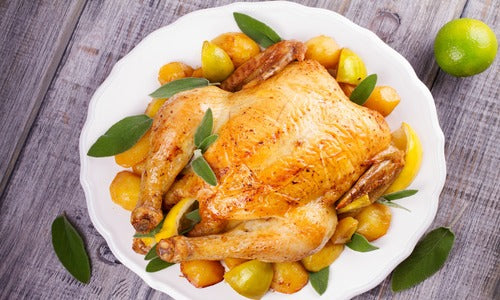 Lemon & Garlic Roast Halal Chicken