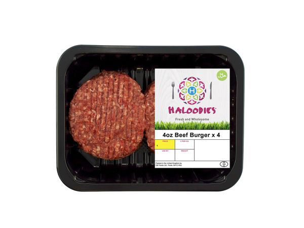 Shop Halal Fresh Beef Burgers Delivery