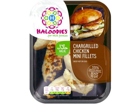 Halal Chargrilled Chicken Mini Fillets 120g