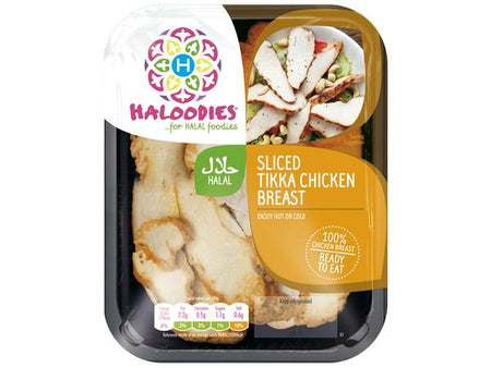 Sliced Halal Tikka Chicken Breast 130g