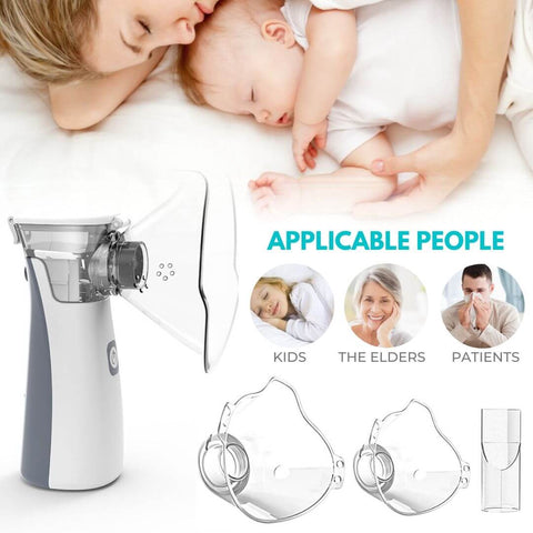 Portable mesh nebulizer asthma attack breathing improve cough allergie