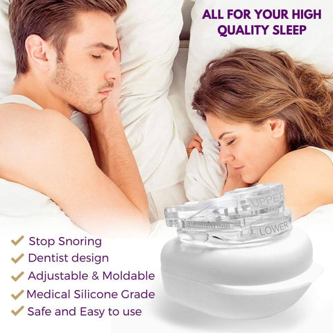 3snore stopper  mandibular mouthpiece teeth grinding mouthguard antisnoring snore stop dilator clipple snore device nose clip clipple anti snoring device snoring aid sleep a