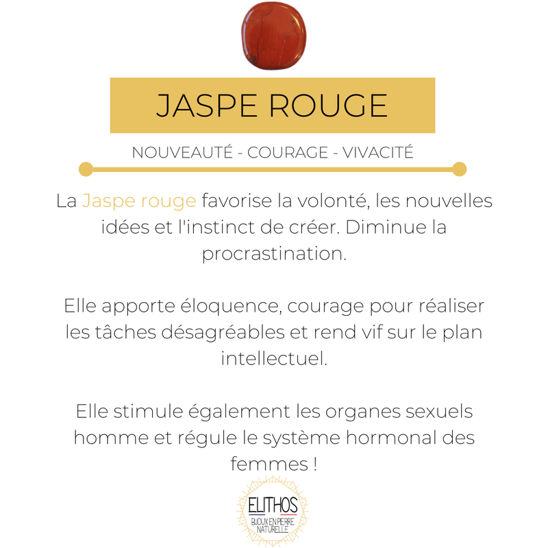 Jaspe rouge courage et passion