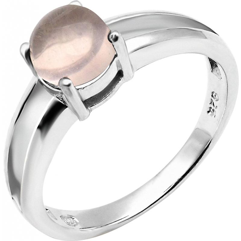 bague ronde Quartz rose