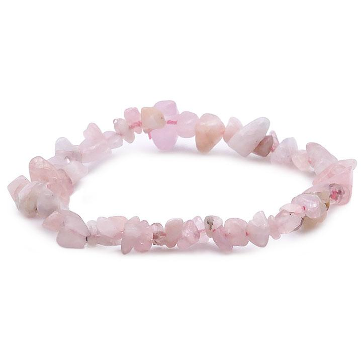 Bracelet pierre Morganite style baroque provenance brésil