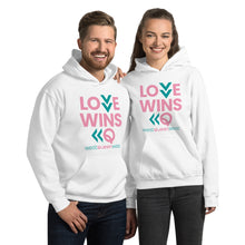 Load image into Gallery viewer, LOVE WINS Unisex Hoodie - White
